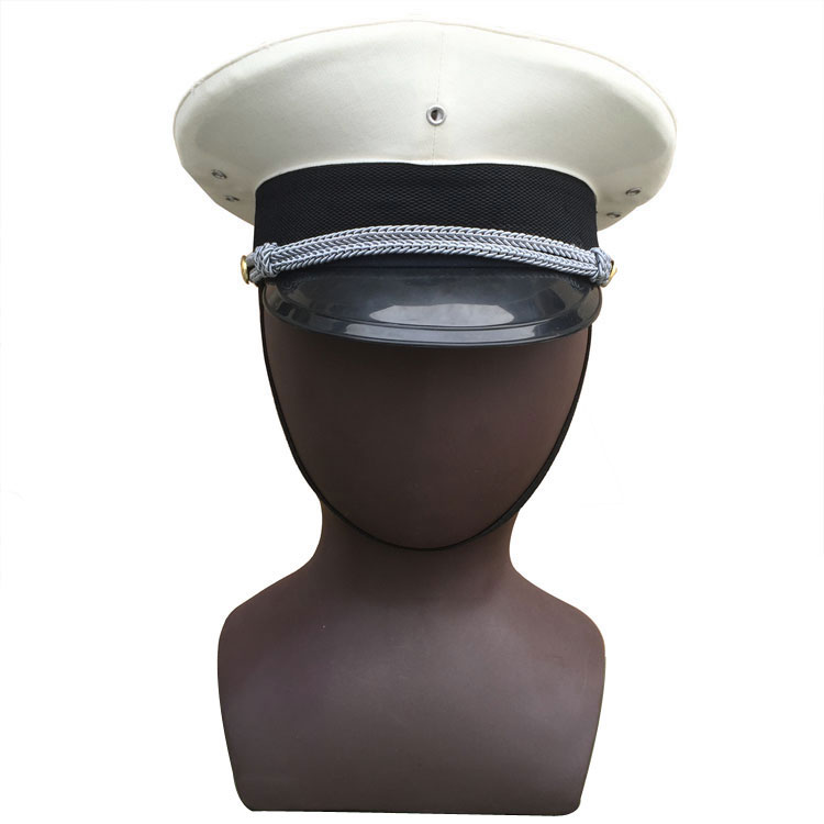 Cheap Chinese Army Type 87 Navy Large Brimmed Hat China Military White Cap for Men 140122(China (Mainland))