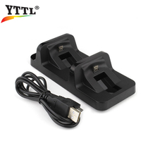 YTTL DC 5V USB Port Dual Charging Dock Station Stand Holder Support Charger For Sony PS4 PS 4 Game Wireless Controller