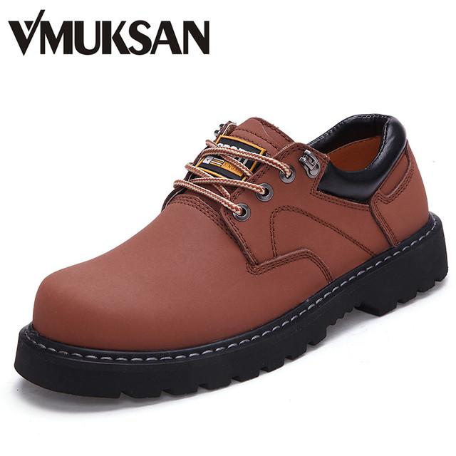 2016 весной натуральной кожи лодыжки резиновые сапоги мужская осень удобную обувь ...