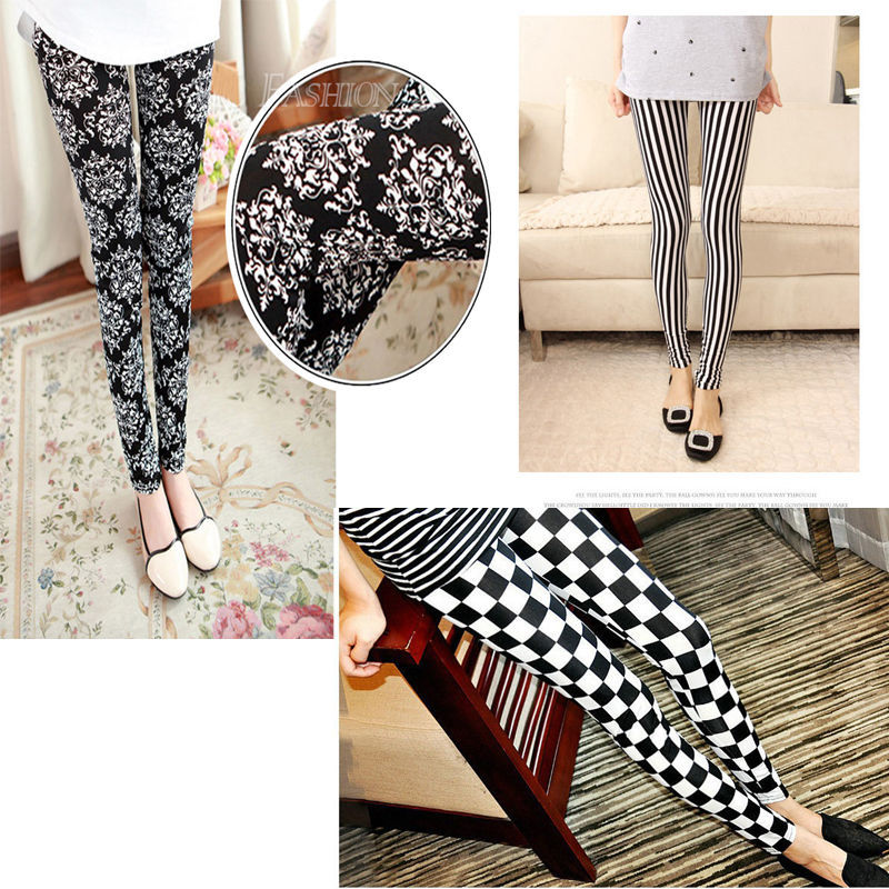 Женские леггинсы Lady Sexy Pencil Pants Jeggings Lady Skinny Print Leggings Stretchy Jeggings Pencil Tights Pants цена 2016