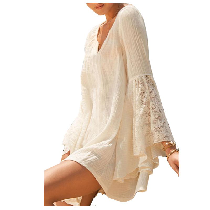 cotton bathing suit coverups blouses lace henley blouse