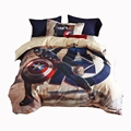 boys bedding set queen twin size 100 cotton quilt cover bed sheet pillowcase Captain America s