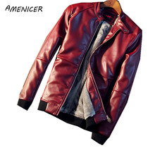 Fashion Mens Leather Jacket And Coats Wine Red Coat Motorcycle Jaqueta De Couro Masculina Chaqueta Cuero Hombre Veste Cuir Homme(China (Mainland))