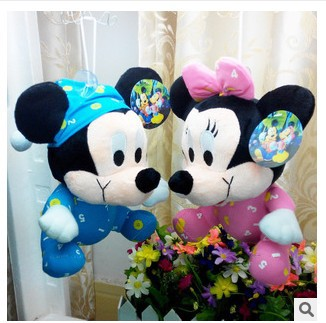 Free shipping 1pieces/lot 20cm Mini Lovely Mickey Mouse And Minnie Mouse Stuffed Animals Plush Toys For Children's Gift(China (Mainland))
