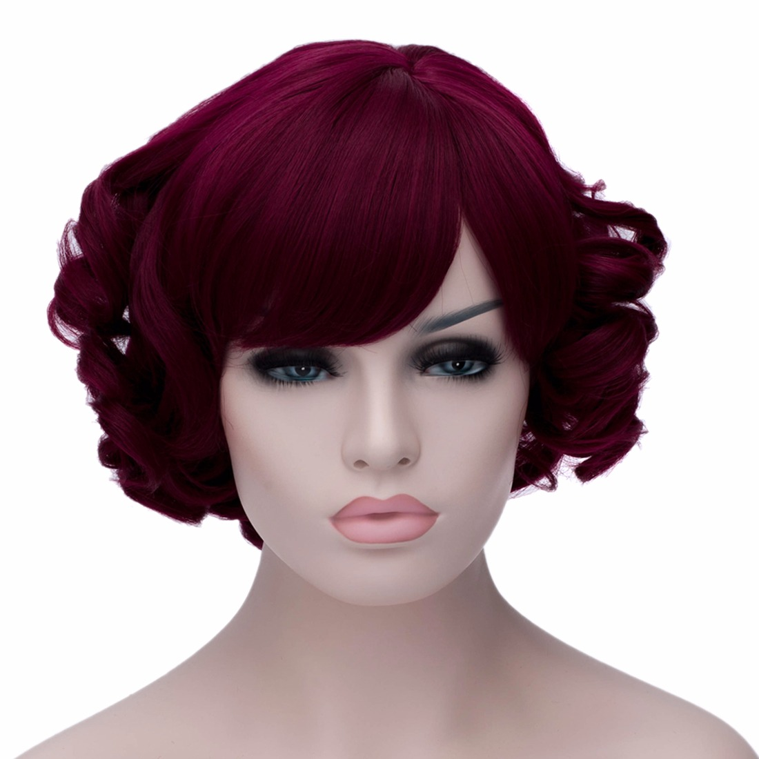 Rose Red Short Wave Full Charming Ladies Style Costume Cosplay Hair Wigs<br><br>Aliexpress