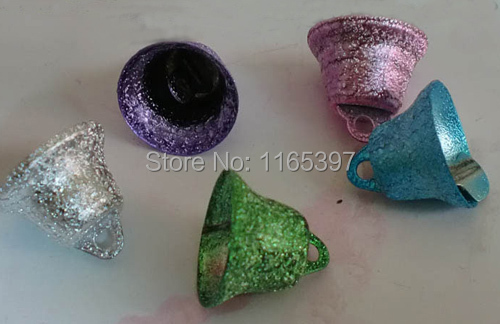 100pcs 15mm embossed metal church bell bulk Christmas ornaments decoration bells festive supplies Christmas cracker DIY crafts(China (Mainland))