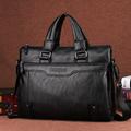 Men Business Faux PU Leather Laptop Briefcase Male Travel Messenger Shoulder Portfolio Bags Causal Lawer Handbag