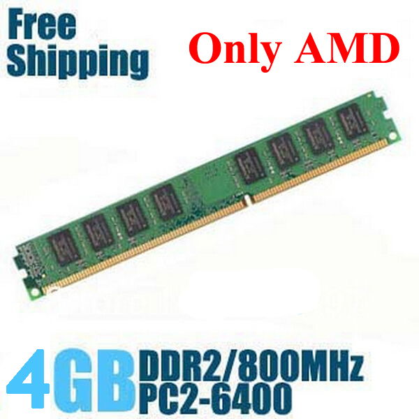 Brand New Sealed DDR2 800 MHz / PC2 6400 4GB Desktop RAM Memory compatible with DDR 2 667MHz / 533MHz For AMD Motherboard(China (Mainland))