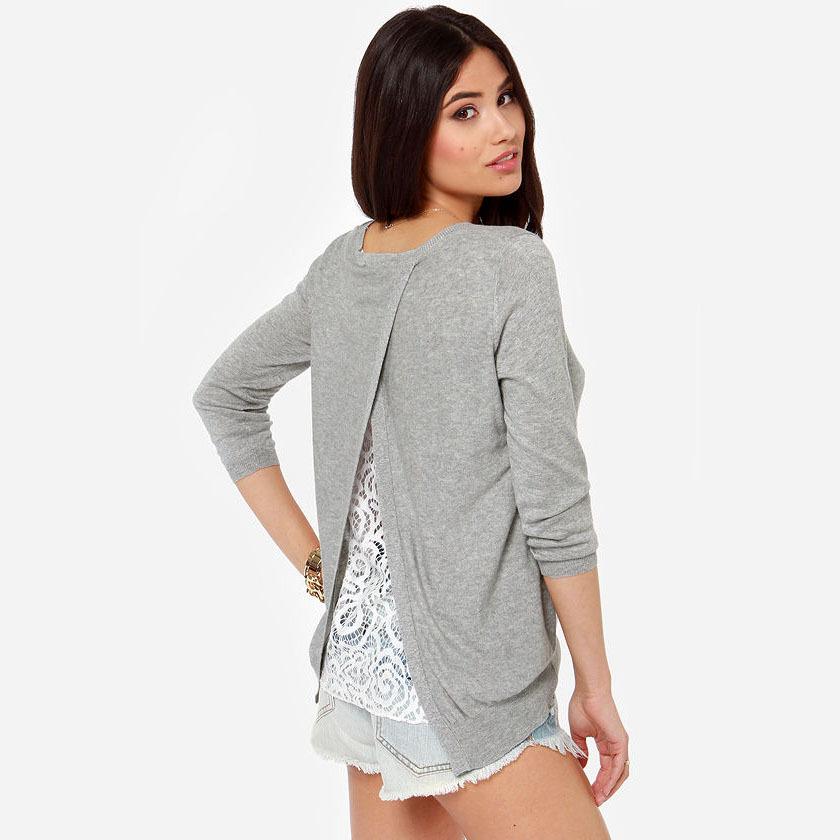 dentelle pull tricot pull femme femmes chandails et pulls manteau de la menthe hiver blouse pull. Black Bedroom Furniture Sets. Home Design Ideas