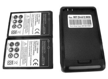 2x 1800mAh BH6X battery +Charger For Motorola Atrix 4G,MB860,ME860, Droid X/X2,MB810,MB870