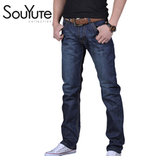 2016 Mens Robin Jeans Straight Slim Soild Full Length Famous Brand Ripped Jeans Casual Straight Hot Selling High Quality 6699(China (Mainland))