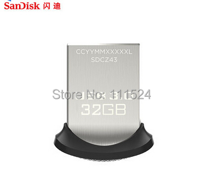 2014 New Arrival USB 3.0 Flash drive 100% Original Genuine Sandisk Cruzer Fit CZ43 64gb 32gb 16gb smart mini Usb Free shipping(China (Mainland))