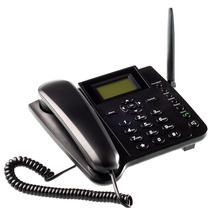 Black Fixed Wireless GSM Desk Phone Quadband SIM Card SMS Function Desktop Telephone Handset Russian French Spanish Portuguese(China (Mainland))