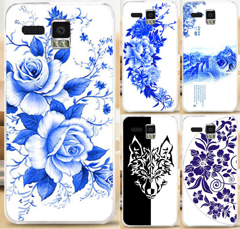 New Arrival Great Wall,Wolf Head,Rose Flower,Ceramics China Style PC Phone Case Skin Shell For Lenovo A8 A806 A808T Phone Cover(China (Mainland))