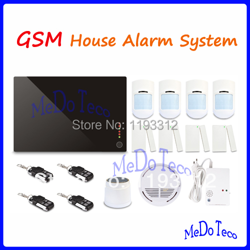 Free shipping High Quality GSM House alarm system home security kits with large package Best gift option<br><br>Aliexpress