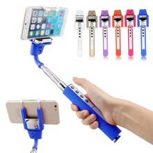 2015 Universal Alloy bluetooth wireless Extendable Handheld stick selfie monopod with Mirror Zoom for Samsung smart phone free