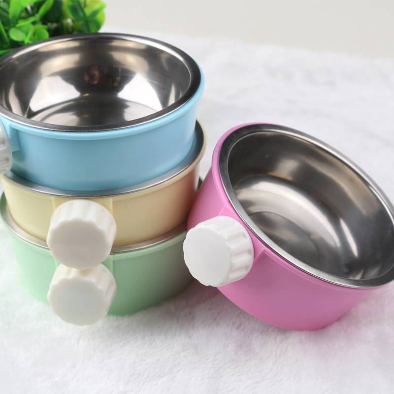 Stainless Steel Pet bowl Detachable food feeders for small ...