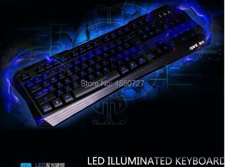 2015 New Pro Gaming Game LED Backlit Backlight USB Wired Keyboard for PC Laptop gamer(Hong Kong)