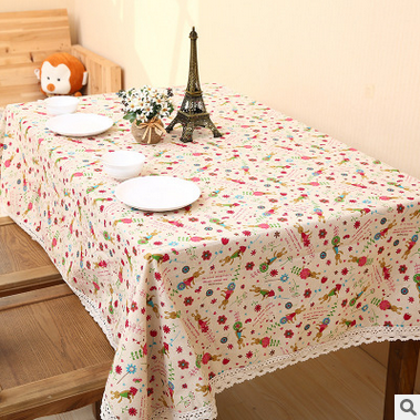 Hot classic natural color Plain Linen Tablecloth Wedding Tablecloths Tea Table Cloth Universal Cloth Cover(China (Mainland))