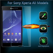 HD Ultra Thin Real Premium Tempered Glass Screen Protector Film For Sony Xperia L SP Z1 Z2 Z3 Z4 mini E3 E4 C3 C4 M2 M4 Aqua M5