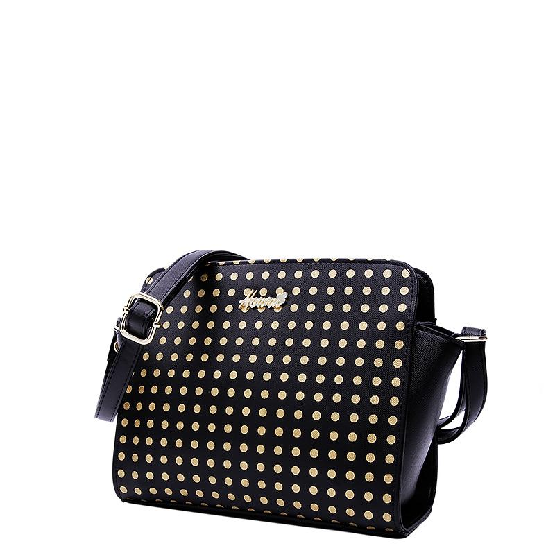 2015 Fashion New Style Dot Women Shoulder Bags PU Leather Small Soft Casual Tote Ladies Handbags 1EH07022(China (Mainland))
