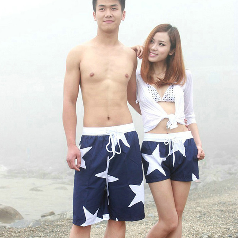 Women Board Shorts Casual Printed Swimming Shorts For Women Fashion Swimwear Couple CDB006(China (Mainland))