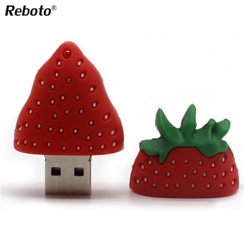 USB flash drive lovely cartoon strawberry model 16GB 32GB USB 2.0 Flash Drive 4GB 8GB pendrive thumb Memory Card Pen Drive 64GB(China (Mainland))