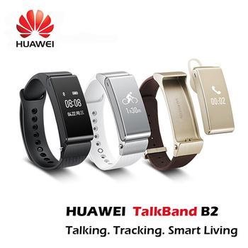 Оригинал HUAWEI TalkBand B2 умные браслет часы Bluetooth фитнес Smartwatch телефон группа помощник для IOS android-коммуникатор 2015 новый