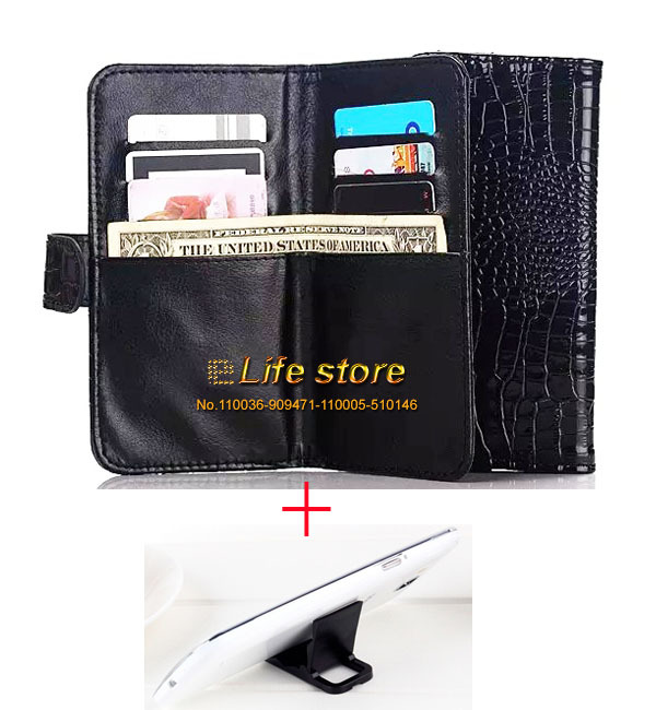 Strap Hand Card Wallet Leather Phone Case Crocodile Case +2 Phone Stand For LG G4 Stylus LS770, G4 Note, G stylo CDMA(China (Mainland))