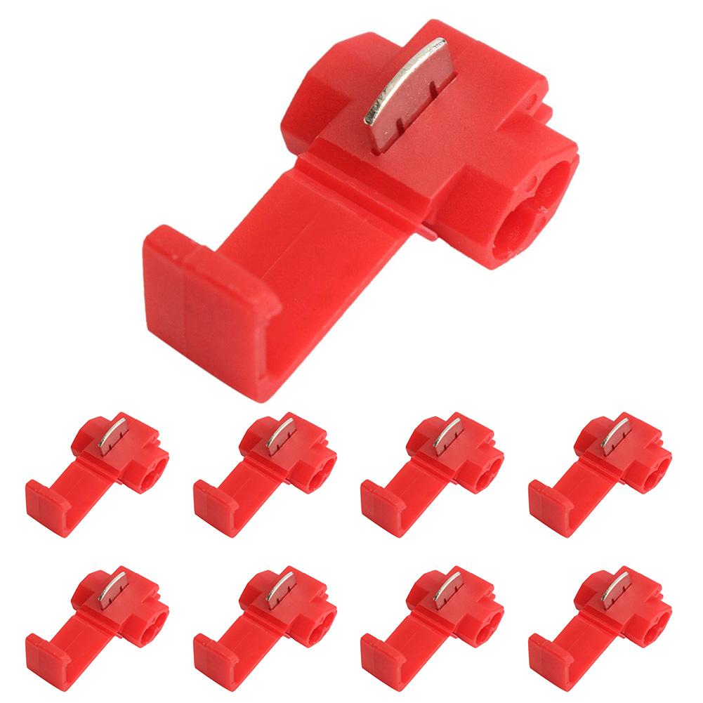 50 шт. быстроразъемные красные электрические соединители кабелей Быстрый замок aeProduct.getSubject()