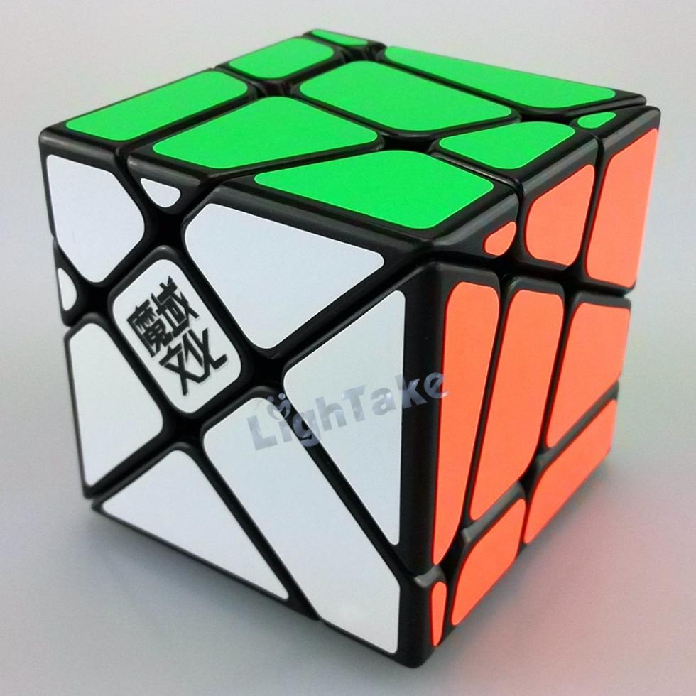 2015 Brand New YongJun YJ Moyu Crazy YiLeng Fisher Cube 3x3x3 Gear Cube Speed Puzzle Cubes Educational Toy Special Toys(China (Mainland))