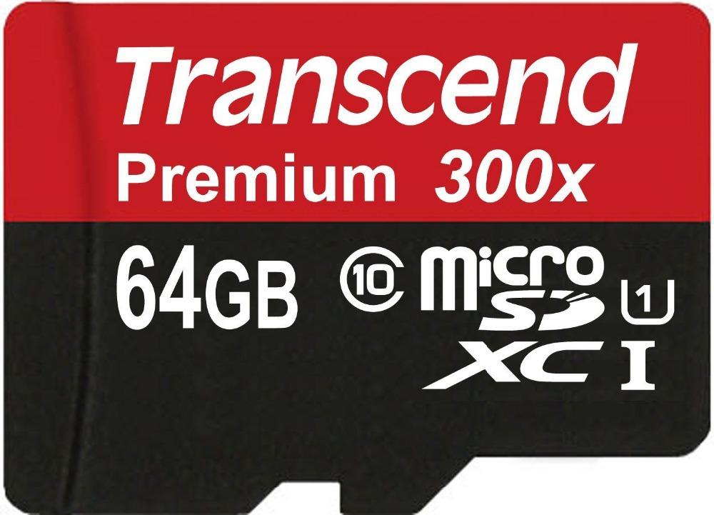 Original Transcend 16GB 32GB 64GB MicroSD MicroSDHC MicroSDXC Micro SD SDHC SDXC Card 45MB/S class 10 UHS-1 TF Memory Card(China (Mainland))