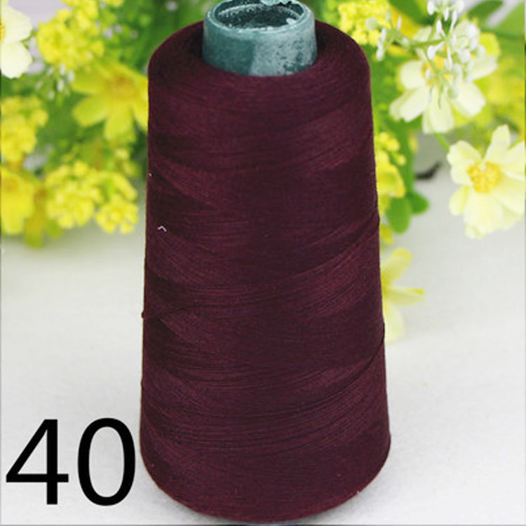 55colors sewing supplies polyester high speed crimson sewing thread DIY 40S/2 3000yards high Quality for industrial(China (Mainland))
