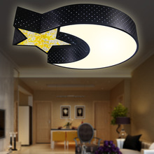 Boy room lighting moon and the stars LED ceiling lamp living room dining room bedroom led ceiling light children room black lamp