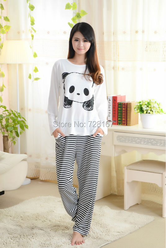 Hot Sale Sleepwear Lounge Women's Cute Cartoon Long Sleeve ...