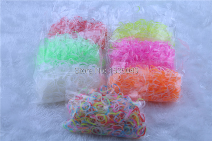 6bag/lot transparent crystal loom rubber bands refill clear Rubber band for DIY charm bracelet (600pcs band + 25 S-clip )(China (Mainland))