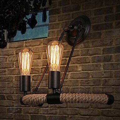 Фотография 2 Lights,Retro American Loft Style Vintage Industrial Wall Lamp,Edison Wall Sconce For Bedroom bar home lights,Bulb Included E27
