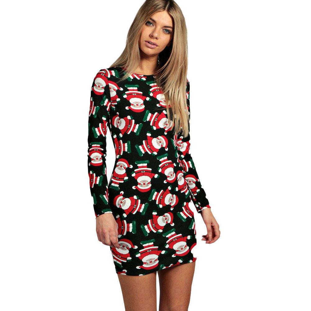 Feitong fashion women christmas party dress ladies long