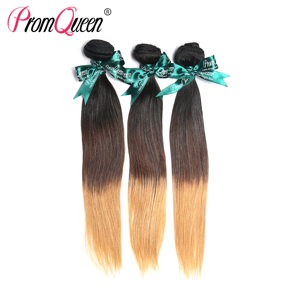 Ombre Hair Extensions Colored Three-Tone 3pcs/lot,100% Brazilian human Ombre Hair Weave bundles, 16-24inch available<br><br>Aliexpress