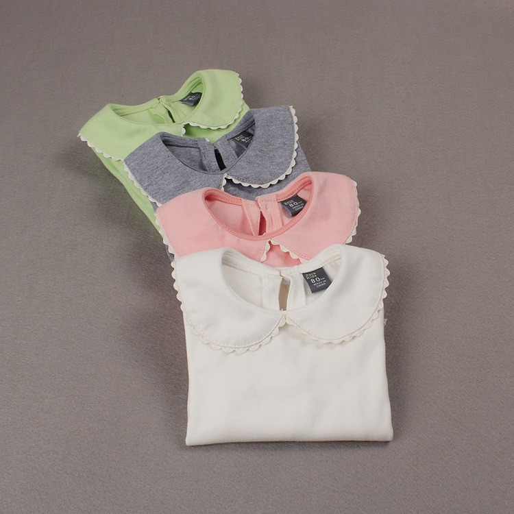 Infant peter pan collar blouse lace henley blouse for Peter pan shirt pattern