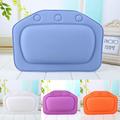 2017 New 4 Colors Eco Friendly Comfortable SPA Bath Pillow Headrest Suction Cup Bathtub Soft Pillows