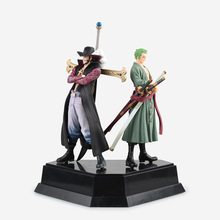 Anime One Piece Zoro & Dracule Mihawk Grandline Men Doll PVC Action Figure Collectible Model Toy 24cm KT2413 - Anitoy Group store