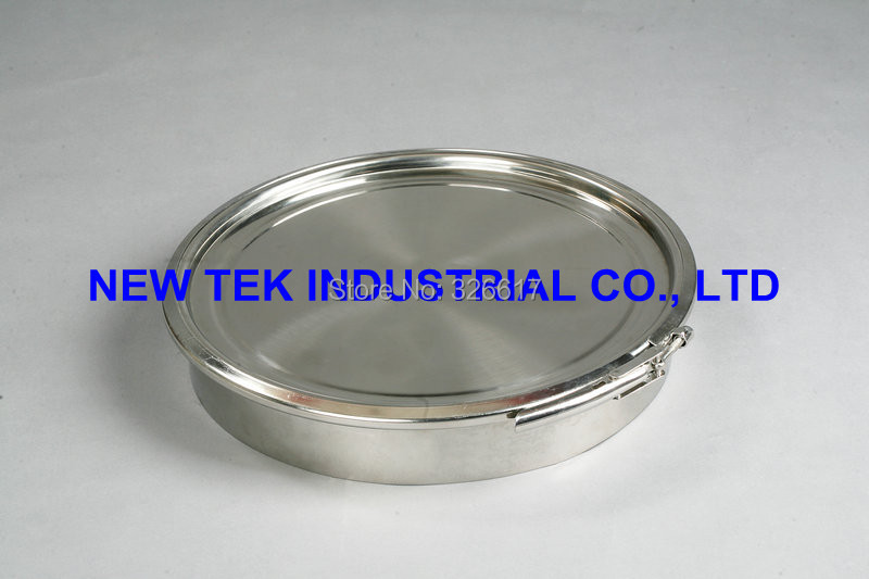 New design SS304 sanitary 500mm triclamp manhole stainless steel mayway food grade mandoor sealing gasket on the cap lid(China (Mainland))