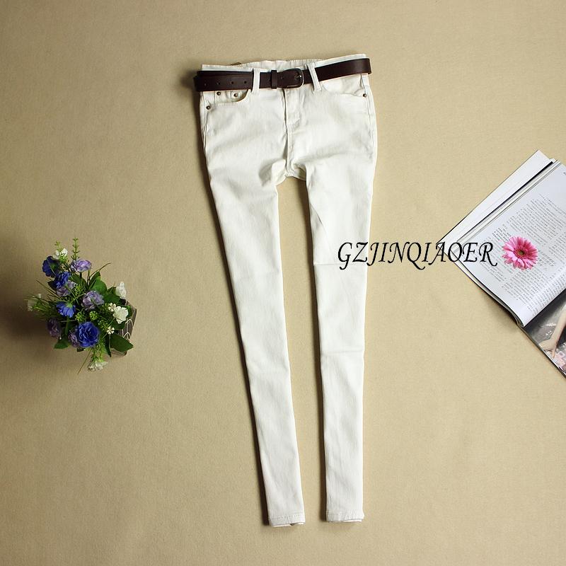 Sale 2014 jeans women white skinny denim all-match 100% cotton low-waist 25-28 casual pencil pants female elastic denim jeansОдежда и ак�е��уары<br><br><br>Aliexpress