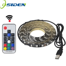 Buy USB 5V 5050 RGB Strip light 60led 1m 2m mini IR 24key RF 17key controller black PCB IP65 waterproof RGB flexible light Adhesive for $6.00 in AliExpress store