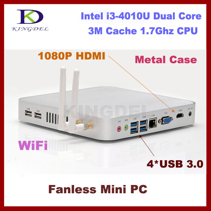Kingdel New Mini pc workstation desktop pc with Intel Core i3-4010U 1.7Ghz HDMI VGA 4*USB 3.0 Wifi 2G RAM 16GB/24GB SSD(China (Mainland))