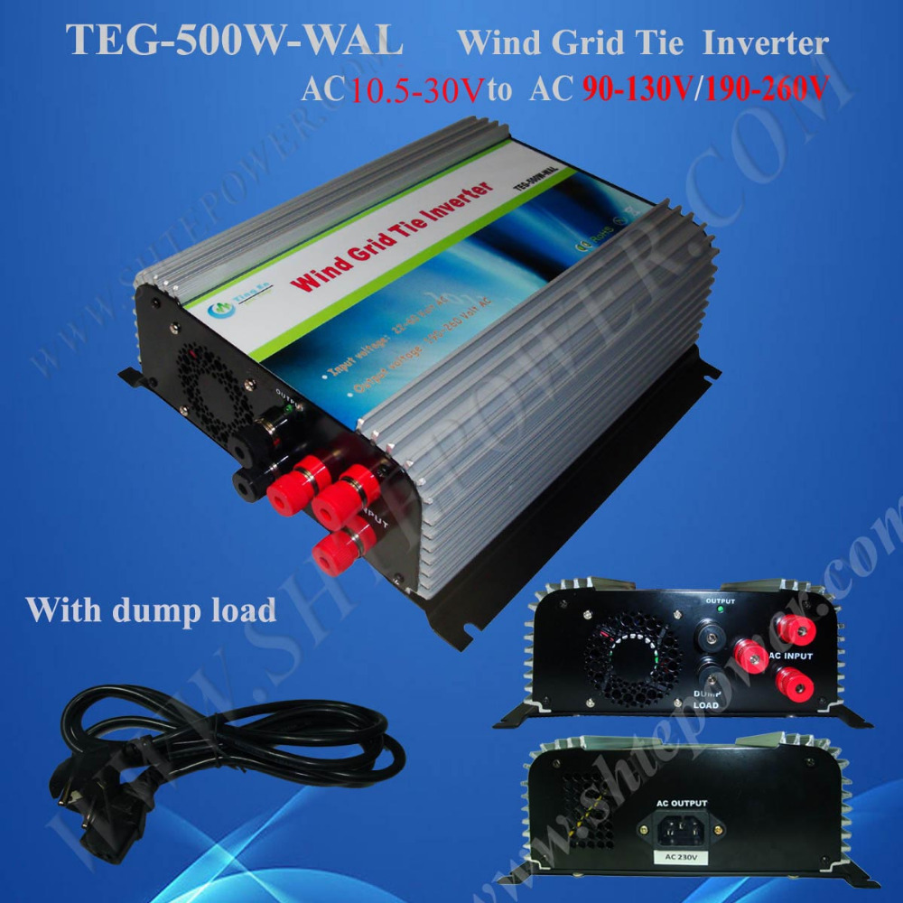 wind inverter 500w grid tie for home ac 12v to ac 220v,pure sine wave inverter(China (Mainland))