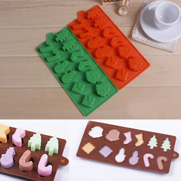 1X Party Xmas Cake Decor Mould Candy Chocolate Fondant ...