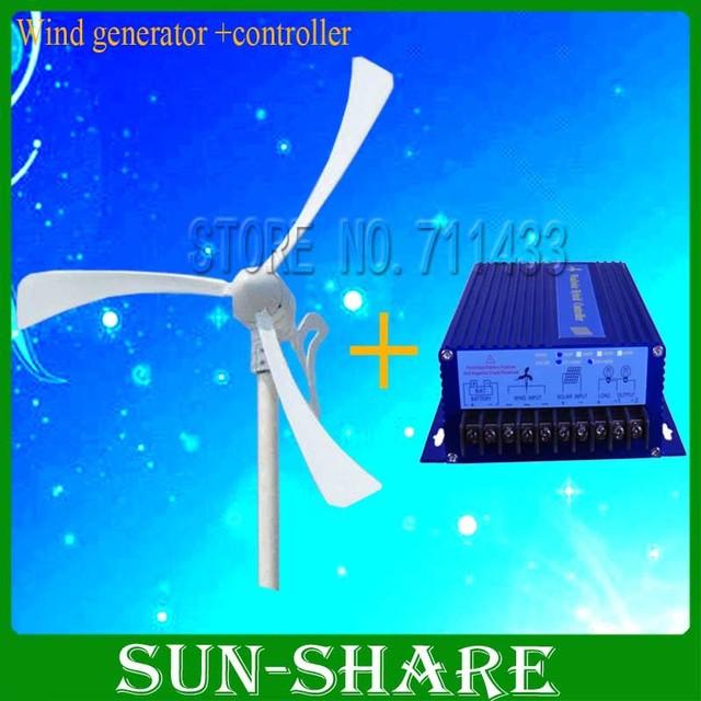 DHL free shipping Max power 500w 12v /24vwind power  /small windmill/wind turbine/magnet wind kits +wind controller
