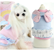 Buy Cute anchor small dog pet cat cotton padded Coat jacket clothes winter warm fleece dog hoodie clothing chihuahua dog bow clothes for $8.55 in AliExpress store